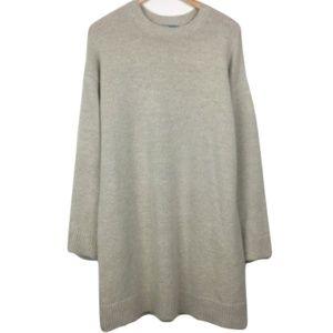 ASOS Taupe Knit Midi Sweater Dress